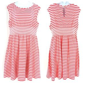 Kate Spade Pink and White Striped Leora Dress